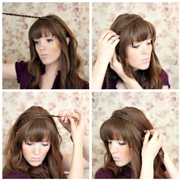 Какую прическу сделать на длинные волосы с челкой