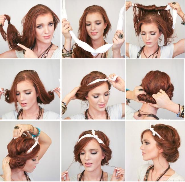 Как сделать самой себе прическу на короткие волосы фото