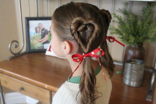 Причёска на длинные волосы на день рождения для детей