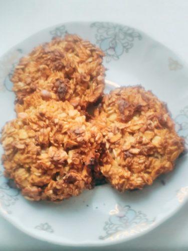 Хрустящее печенье с овсянкой и кокосом