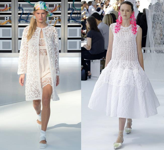 Белое прозрачное платье